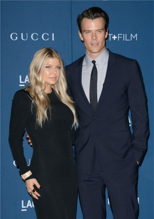 Fergie and husband Josh Duhamel appear at the LACMA Art and Film Gala, honoring Martin Scorsese And David Hockney, at the Los Angeles County Museum of Art on Nov. 2, 2013. The Black Eyed Peas singer gave birth to their child in late August. <span class=meta>(Lionel Hahn &#47; AbacaUSA &#47; Startraksphoto.com)</span>