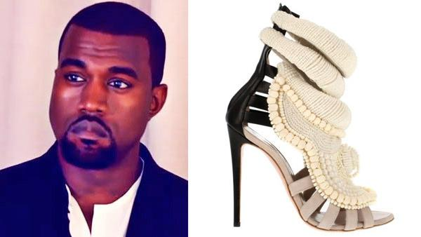 Kanye West appears in a scene from his 2010 short film Runaway. / Kanye Wests shoe designed by Giuseppe Zanotti appears in a photo from Colettes official website. - Provided courtesy of Def Jam / Collete.fr