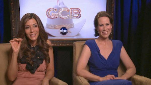 Miriam Shor and Marisol Nichols talk lingerie on 'GCB'