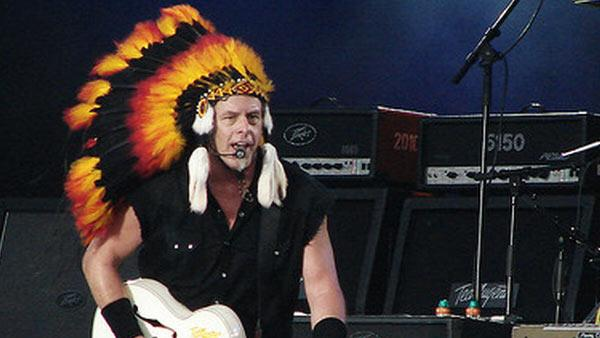 Ted Nugent performs at Bospop 2008 in the Netherlands in July 2008.