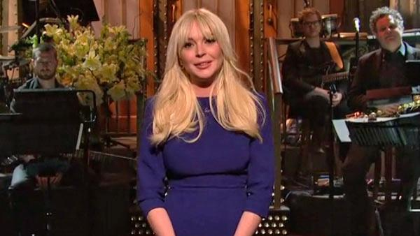 Lindsay Lohan appears on 'Saturday Night Live'...
