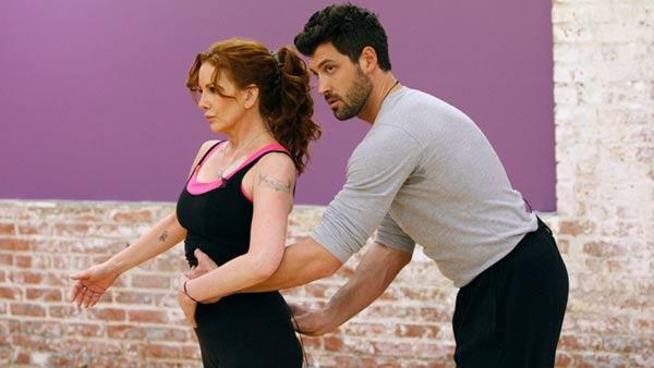 Melissa Gilbert and Maksim Chmerkovskiy appear in a rehearsal photo for season 14 of Dancing With the Stars. - Provided courtesy of ABC