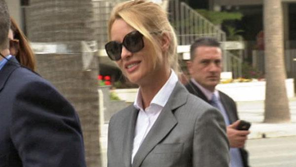 Nicollette Sheridan arrives at a Los Angeles court for her Desperate Housewives wrongful termination case on March 5, 2012. - Provided courtesy of OTRC