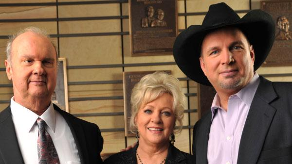 From right: Garth Brooks, Connie Smith and , Hargus Pig Robbins appear in a promotional photograph released by the Country Hall of Fame. They were announced as the 2012 inductees on Tuesday, March 6. - Provided courtesy of John Russell / CMA