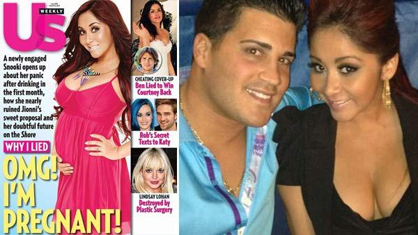 Nicole Snooki Polizzi appears on the cover of Us Weekly magazine on March 7, 2012. / Nicole Snooki Polizzi from MTV reality show Jersey Shore and her boyfriend Jionni LaValle appear in a photo posted on the stars Twitter page on Jan. 28, 2012. - Provided courtesy of Us Weekly / twitter.com/snooki