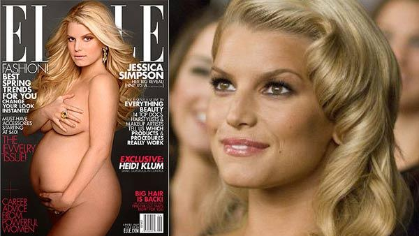 Jessica Simpson appears on the cover of Elle for April 2012. / Jessica Simpson appears in a still from her 2007 film, Major Movie Star. - Provided courtesy of Elle Magazine / Major Productions, Inc.