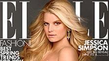 Jessica Simpson appears on the cover of Elle for April 2012. - Provided courtesy of Elle Magazine