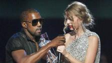 In this Sept. 13, 2009 file photo, singer Kanye West takes the microphone from singer Taylor Swift as she accepts the Best Female Video award during the MTV Video Music Awards in New York. - Provided courtesy of Jason DeCrow
