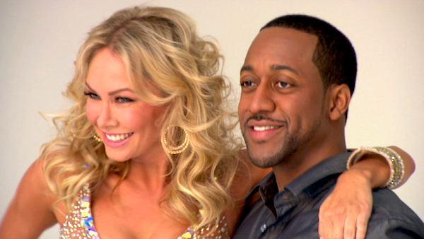 Jaleel White and Kym Johnson groove
