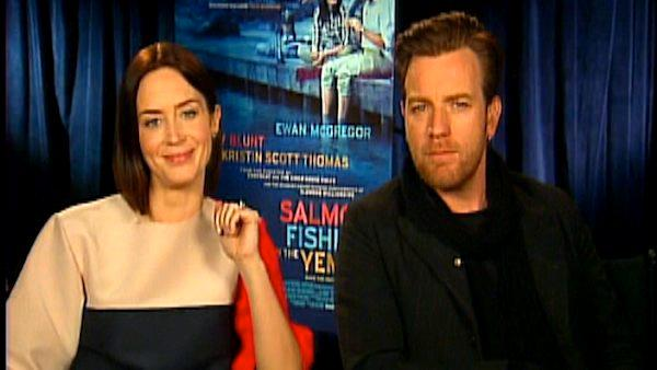 Ewan McGregor and Emily Blunt on'Salmon Fishing in the Yemen'