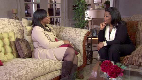 Patricia Houston appears in a photo from her interview with Oprah Winfrey in March 2012. - Provided courtesy of AP / OWN