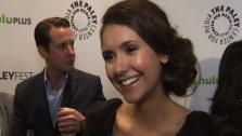 Nina Dobrev, who plays Elena Gilbert on The Vampire Diaries, talks to OnTheRedCarpet.com at a PaleyFest event honoring the CW show in Los Angeles on March 10, 2012. - Provided courtesy of OTRC