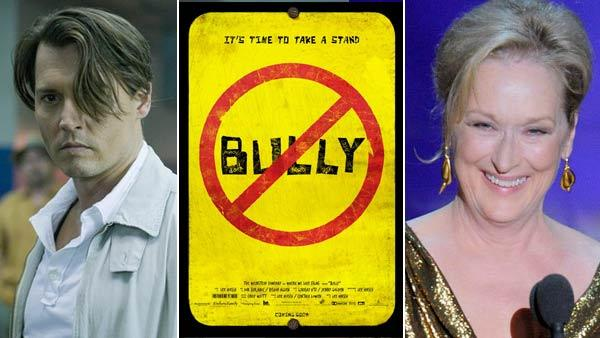 Johnny Depp appears in a still from the 2011 film, The Rum Diary. / A poster from the 2012 documentary Bully / Meryl Streep accepts the Oscar for best actress during the 84th Academy Awards on Sunday, Feb. 26, 2012, in  Los Angeles. - Provided courtesy of FilmDistrict / Peter Mountain