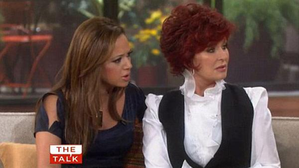 Leah Remini and Sharon Osbourne appear in a 2011 still from The Talk. - Provided courtesy of CBS