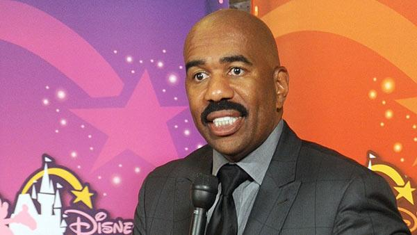 Entertainer and philanthropist Steve Harvey speaks at an event celebrating five years of Disneys Dreamers Academy, Friday, Oct. 7, 2011, in New York. - Provided courtesy of Disney / Diane Bondareff