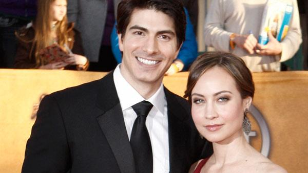 Brandon Routh, left, and Courtney Ford arrive at the 16th Annual Screen Actors Guild Awards on Saturday, Jan. 23, 2010, in Los Angeles. - Provided courtesy of AP / Matt Sayles