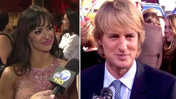 Karina Smirnoff talks to OnTheRedCarpet.com at Dancing With The Stars results show on Oct. 11, 2011. / Owen Wilson talks to OnTheRedCarpet.com at the Los Angeles premiere of Cars 2 in June 2011. - Provided courtesy of OTRC