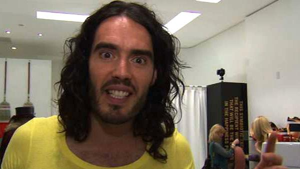 Russell Brand talks to OnTheRedCarpet.com about an L.A. pop-up swap shop and his Happiness documentary produced by Oliver Stone in May 2010. - Provided courtesy of OTRC