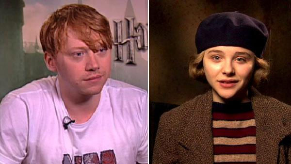 Rupert Grint talks to OnTheRedCarpet.com in July 2011. / Chloe Grace Moretz talks about Hugo in an interview with OnTheRedCarpet.com in November 2011. - Provided courtesy of OTRC / Paramount Pictures