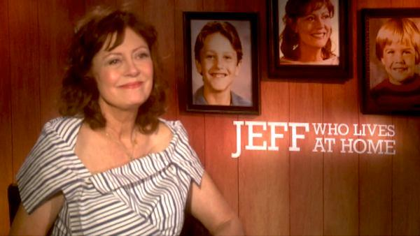 Susan Sarandon talks to OnTheRedCarpet.com during a junket for 'Jeff, Who Lives at Home.'