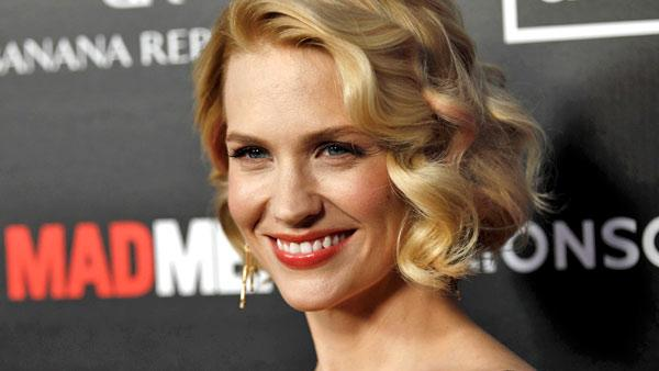 January Jones, who plays Don Drapers ex-wife Berry on Mad Men, appears at the premiere for the AMC shows fifth season in Los Angeles on Wednesday, March 14, 2012. - Provided courtesy of AP / Matt Sayles