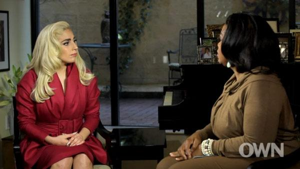Lady Gaga and Oprah Winfrey appear in a still from a special Oprahs Next Chapter, to air on March 18, 2012. - Provided courtesy of OWN