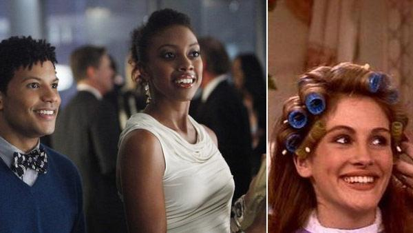 Condola Rashad, Jaime Cepero appear in a scene from the NBC show Smash. / Julia Roberts appears in a scene from the 1989 movie Steel Magnolias. - Provided courtesy of NBC / Rastar Films / Columbia TriStar Films