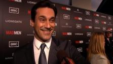 Jon Hamm talks to OnTheRedCarpet.com at the March 2012 premiere of Mad Mens fifth season. - Provided courtesy of OTRC
