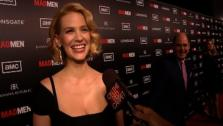 January Jones talks to OnTheRedCarpet.com at the March 2012 premiere of Mad Mens fifth season. - Provided courtesy of OTRC