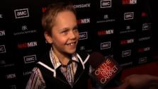 Mason Vale Cotton, the latest child actor to play Bobby Draper, talks to OnTheRedCarpet.com at the March 2012 premiere of Mad Mens fifth season. - Provided courtesy of OTRC