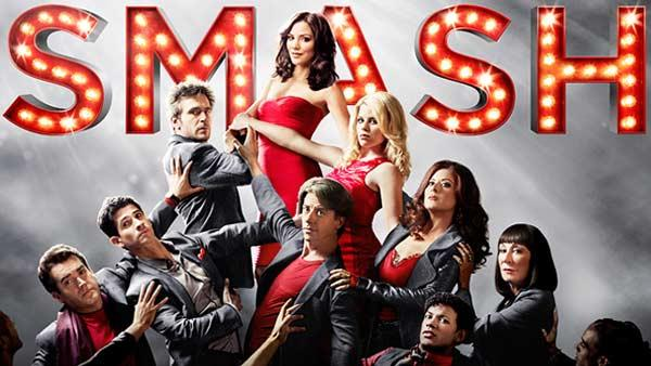 Katharine McPhee, Debra Messing, Jack Davenport, Megan Hilty, Christian Borle, Anjelica Huston, Jaime Cepero, Raza Jaffrey and Brian dArcy James  appear in a promotional photo for Smash. - Provided courtesy of NBC