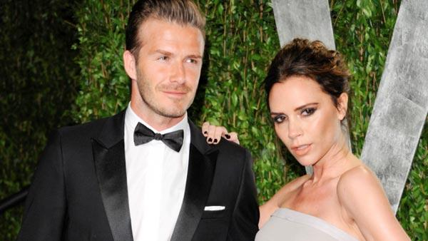 David Beckham and Victoria Beckham arrive at the Vanity Fair Oscar party on Sunday, Feb. 26, 2012, in West Hollywood, Calif. - Provided courtesy of  AP Photo/Evan Agostini