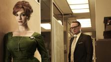 Christina Hendricks and Jared Harris appear in a promotional photo for Mad Men season five. - Provided courtesy of Frank Ockenfels 3 / AMC