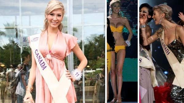 Jenna Talackova appears with a Miss Canada sash in an undated photo posted her ModelMayhem modeling profile. / Jenna Talackova appears at the Miss International Queen 2010 pageant on No. 19, 2010. - Provided courtesy of www.modelmayhem.com / AP Photo / Sakchai Lalit