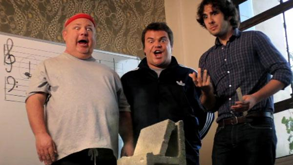 Kyle Gass, Jack Black and Josh Groban appear in the Tenacious D clip To Be The Best, posted on March 26, 2012. - Provided courtesy of Sony Music Entertainment