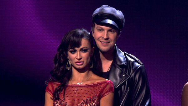 Singer Gavin DeGraw  and his partner Karina Smirnoff await possible elimination on