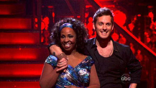 R&B legend Gladys Knight and her partner Tristan MacManus await possible elimination on 'Dancing With The Stars: The Result Show' on Tuesday, March 27, 2012. The pair received 19 out of 30 points from the judges for thei