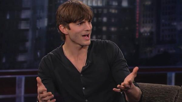 Ashton Kutcher appears on Jimmy Kimmel Live! on March 27, 2012. - Provided courtesy of ABC