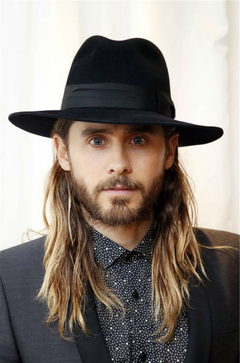 Jared Leto appears at the premiere of 'Dallas Buyers Club' in London on Jan. 39, 2014.