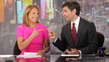 Katie Couric and anchor George Stephanopoulos appear in a photo provided on March 29, 2012, by the ABC Network, whose parent company, Disney, owns OnTheRedCarpet.com. - Provided courtesy of ABC / Fred Lee