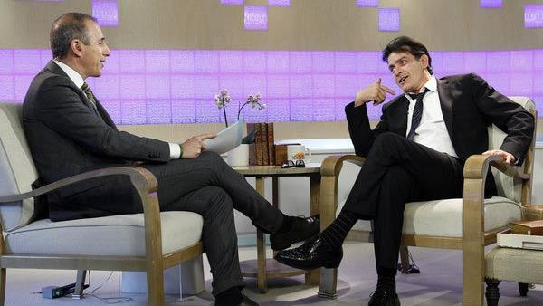 Charlie Sheen appears in a March 29, 2012 interview on The Today Show. - Provided courtesy of NBC