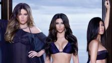 From left: Khloe, Kim and Kourtney Kardashian appear in an ad for their Kardashian Kollection swimsuit line, available at Sears. - Provided courtesy of Nick Saglimbeni / Kardashian Kollection co-creator Bruno Schiavis Facebook page facebook.com/BrunoSchiavidesigner