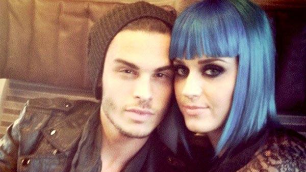 Katy Perry and Baptiste Giabiconi appear in a photo from the models official Twitter page on March 25. - Provided courtesy of Twitter.com/B_Giabiconi