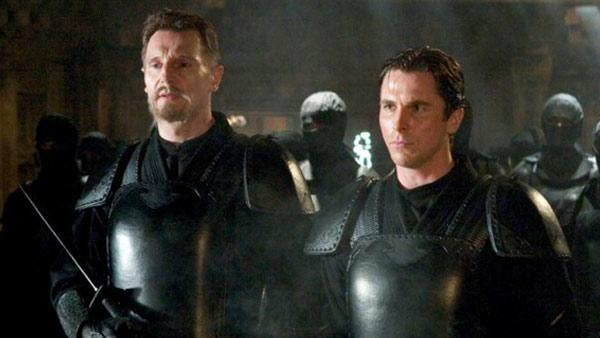 Liam Neeson and Christian Bale appear in a still from the 2005 film, Batman Begins. - Provided courtesy of Warner Bros. Pictures