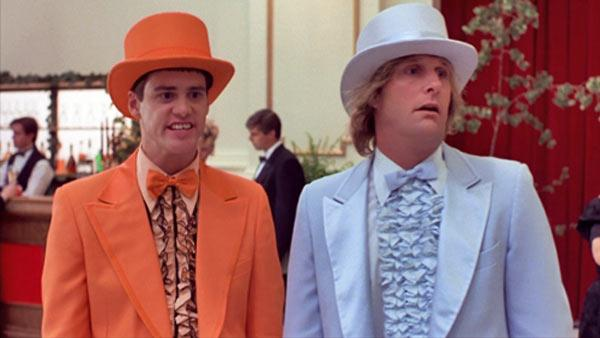 Jim Carrey and Jeff Daniels appear in a scene from the 1994 movie Dumb and Dumber. - Provided courtesy of OTRC / New Line Cinema