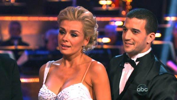Classical singer Katherine Jenkins and her partner Mark Ballas received 29 out of 30 points from the judges for their Waltz on week three of Dancing With The Stars, which aired on April 2, 2012. - Provided courtesy of ABC