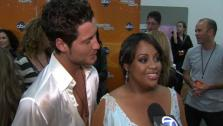 Sherri Shepherd and Valentin Chmerkovskiy talk after week 3 on Dancing With The Stars on April 2, 2012. - Provided courtesy of OTRC