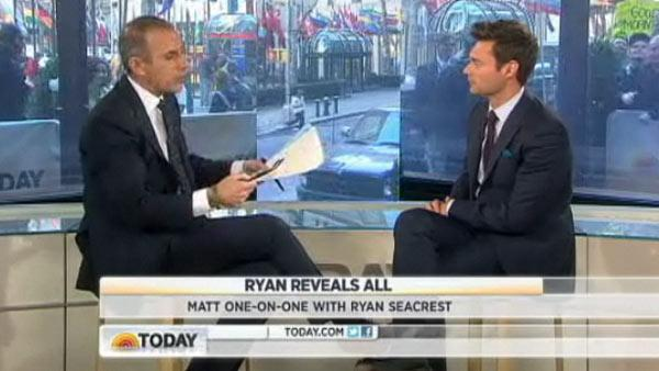 Matt Lauer interviews Ryan Seacrest on NBCs Today show on an episode that aired on April 4, 2012. - Provided courtesy of NBC
