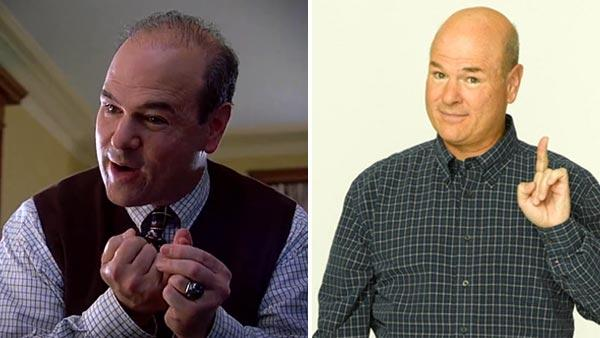 Larry Miller appears in a still from the 1999 film, 10 Things I Hate About You. / Larry Miller appears in a 2009 promotional photo for the TV series, 10 Things I Hate About You. - Provided courtesy of Buena Vista Pictures / ABC Family