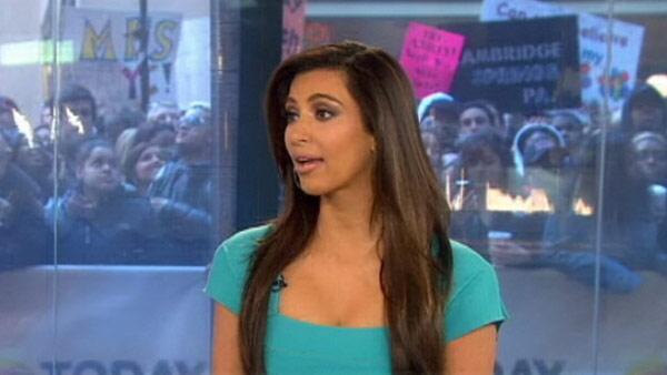 Kim Kardashian appears on NBCs Today show on April 6, 2012. - Provided courtesy of NBC
